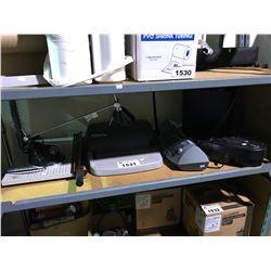 SHELF OF ASSORTED OFFICE SUPPLIES