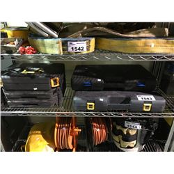 SHELF LOT OF ASSORTED SOCKET SETS AND TOOL CASES