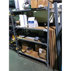 4 TIER METAL AND WOOD INDUSTRIAL SHELF (DISASSEMBLED UNIT AS WELL)