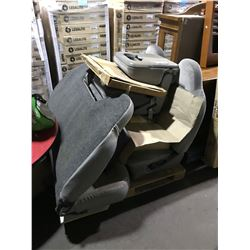 PALLET OF GREY TRUCK SEATS