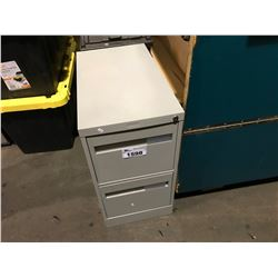2 DRAWER METAL FILE CABINET NO KEY