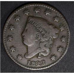 1823 LARGE CENT, FINE