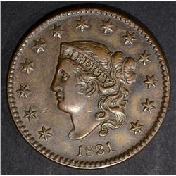 1831 LARGE CENT, XF MED LETTERS