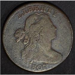 1807 LARGE CENT SMALL FRACTION, VG/F