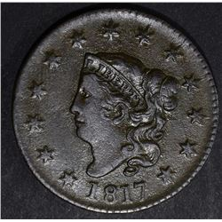 1817 LARGE CENT, XF/AU