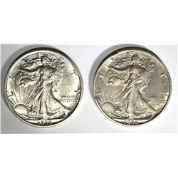 1935 & 36-S -XF WALKING LIBERTY HALF DOLLARS