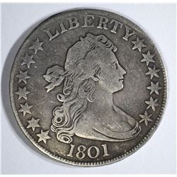 1801 BUST HALF DOLLAR VF - VERY RARE DATE