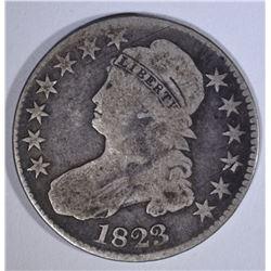 1823 BUST HALF DOLLAR, VG