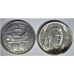 1893 COLUMBIAN & CH BU 1950-S BTW HALF DOLLARS