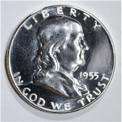 1955 FRANKLIN HALF DOLLAR GEM PROOF