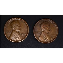 2 1914-S LINCOLN CENTS VF/XF