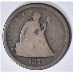 1875-S TWENTY CENT PIECE GOOD