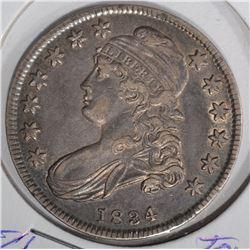 1834 CAPPED BUST HALF DOLLAR  CH.AU