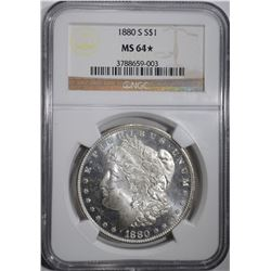 1880-S MORGAN DOLLAR NGC MS 64*