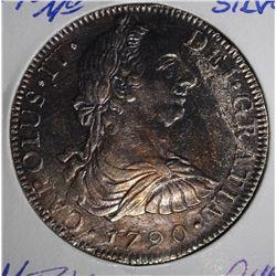 1790 MO SILVER 8 REALES MEXICO  CH.BU