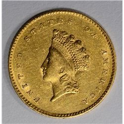 1855 $1.00 GOLD  AU/BU