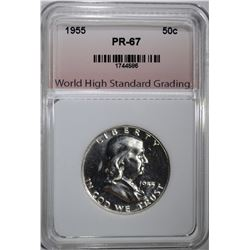 1955 FRANKLIN HALF DOLLAR WHSG SUPERB GEM PROOF