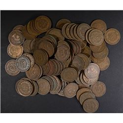 100 MIXED DATE 1900'S  CIRC INDIAN CENTS