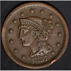 1857 LARGE CENT XF