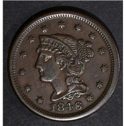 1846 LARGE CENT XF/AU