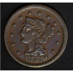 1854 LARGE CENT N-1 SCARCE VARIETY