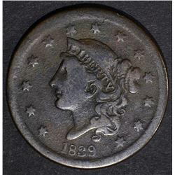 1839 LARGE CENT FINE
