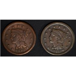 1849 LARGE CENT N-29 FINE SCARCE &
