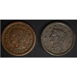 2 - 1853 LARGE CENT VERY FINE