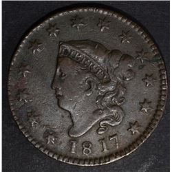 1817 DRAPED BUST LARGE CENT VF