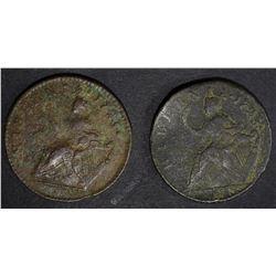 2 - HIBERNIA HALF PENNY from 1700's