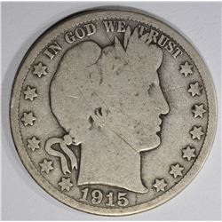 1915 BARBER HALF DOLLAR GOOD