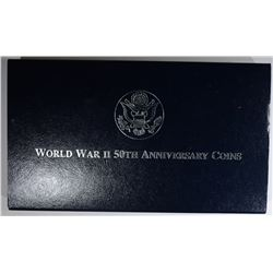 1993 WWII 50th ANNIV 2 COIN PROOF SET