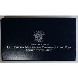 2000 LEIF ERICSON PROOF SILVER DOLLAR