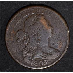 1803 LARGE CENT, FINE rim bump
