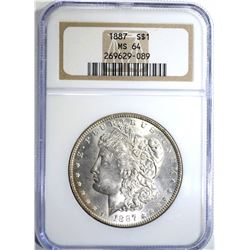 1887 MORGAN DOLLAR NGC MS64