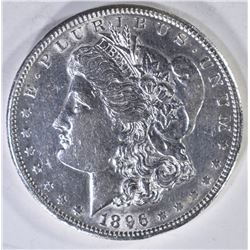1896-S MORGAN DOLLAR  AU/UNC