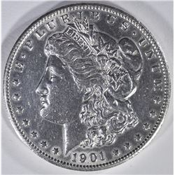 1901-S MORGAN DOLLAR  AU/UNC
