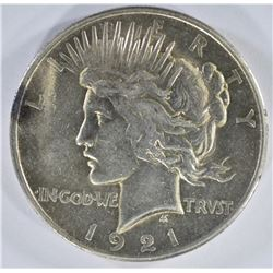 1921 PEACE DOLLAR  AU/UNC
