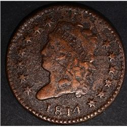 1814 LARGE CENT VF RARE