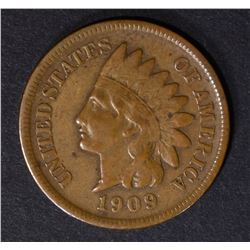 1909-S INDIAN HEAD CENT VF+ KEY COIN