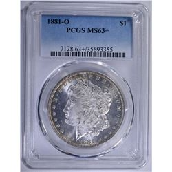 1881-O MORGAN SILVER DOLLAR PCGS MS-63+