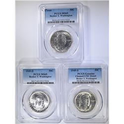 1949 BOOKER T WASHINGTON HALF DOLLAR GRADED SET