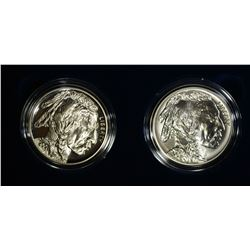 2001 Two Piece Buffalo Silver Set