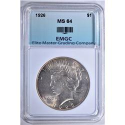 1926 PEACE DOLLAR EMGC CH/GEM BU