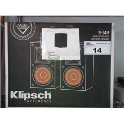"KLIPSCH R-14M 4"" BOOKSHELF SPEAKERS"