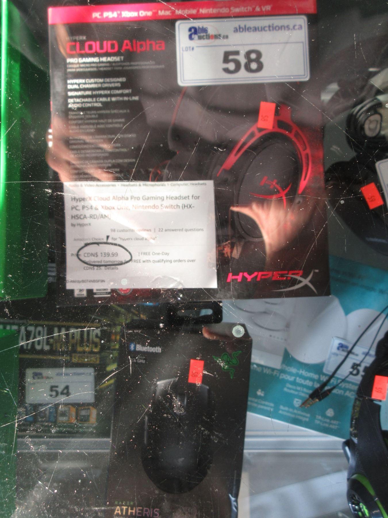 hyperx cloud alpha pro gaming headset & razer atheris