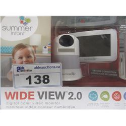 SUMMER INFANT WIDE VIEW 2.0 VIDEO BABY MONITOR