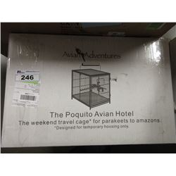 AVIAN ADVENTURES THE POQUITO AVIAN HOTEL CAGE