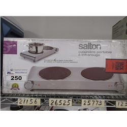 SALTON COUNTER TOP DOUBLE BURNER