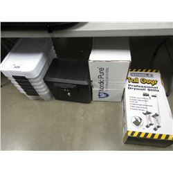 STORAGE BINS, SAFE, FILTERS & STILTS